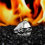 Перстень ручной работы. Ярмарка Мастеров - ручная работа Перстень Череп литой из серебра 925. Handmade.