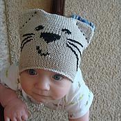 """Работы для детей, ручной работы. Ярмарка Мастеров - ручная работа шапочка """"Котенок"""". Handmade."""