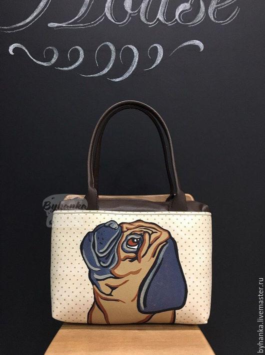 Женские сумки ручной работы. Ярмарка Мастеров - ручная работа. Купить Сумка на плечо. Handmade. Сумка, оригинальная сумка, мопс