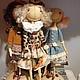 Куклы тыквоголовки ручной работы. Ярмарка Мастеров - ручная работа. Купить Кукла тыквоголовка Маркиза). Handmade. Кукла ручной работы