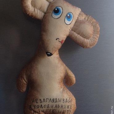 Куклы и игрушки ручной работы. Ярмарка Мастеров - ручная работа кофейная игршука - мышь повесилась. Handmade.