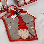 Сувениры и подарки handmade. Livemaster - original item New Year`s souvenir house of the gnome nisse red. Handmade.