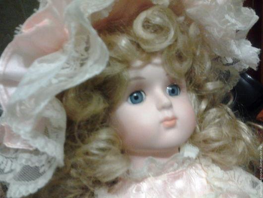Винтажные куклы и игрушки. Ярмарка Мастеров - ручная работа. Купить фарфоровая кукла Альберон. Handmade. Бледно-розовый, атлас