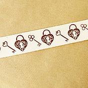 Материалы для творчества ручной работы. Ярмарка Мастеров - ручная работа Лента декоративная Ключ и замок 2,5 см. Handmade.