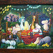 Картины и панно ручной работы. Ярмарка Мастеров - ручная работа Большой пир в Муми-Доле. Handmade.