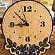 """Часы для дома ручной работы. Ярмарка Мастеров - ручная работа. Купить Часы настенные """"Черника"""". Handmade. Часы, настенные часы"""