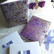 Свадебный салон ручной работы. Ярмарка Мастеров - ручная работа Подарочный набор фотоальбом+папка для видетельста+подарочная упаковка. Handmade.