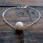 Bead bracelet handmade. Livemaster - original item Bracelet with pearl, silver 925. Handmade.