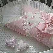 Одеяло с рюшами на выписку своими руками 11