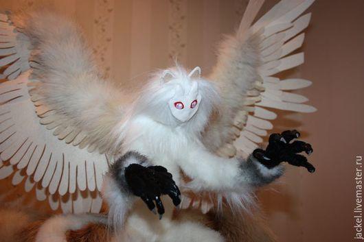 Коллекционные куклы ручной работы. Ярмарка Мастеров - ручная работа. Купить Масколикий дух ветра Вайс Винд. Handmade. Бежевый