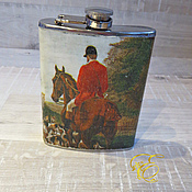 Сувениры и подарки handmade. Livemaster - original item Flask, Hunting, flask for alcohol. Handmade.