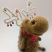 Куклы и игрушки ручной работы. Ярмарка Мастеров - ручная работа Новогодний олень. Handmade.