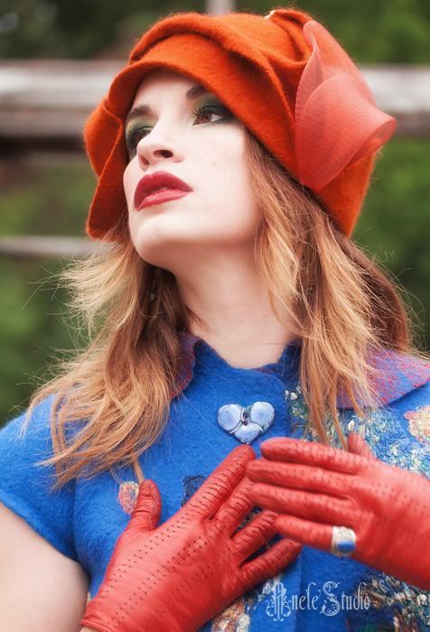 Шляпы ручной работы. Ярмарка Мастеров - ручная работа. Купить Шляпка № 8. Handmade. Рыжий, женственность