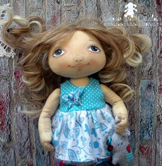 Коллекционные куклы ручной работы. Ярмарка Мастеров - ручная работа. Купить Зоя. Маленькая текстильная игровая куколка.. Handmade. Комбинированный
