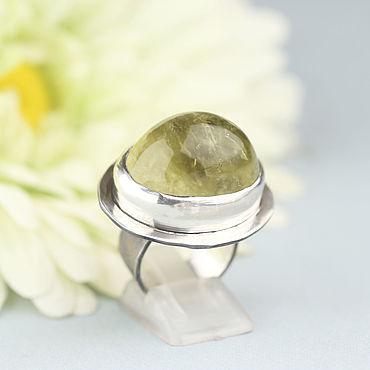 Decorations handmade. Livemaster - original item Ring with citrine. Silver.. Handmade.