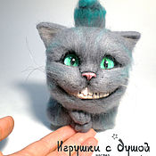 Куклы и игрушки handmade. Livemaster - original item Cheshire Cat, felted toy. Handmade.