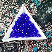 Материалы для творчества handmade. Livemaster - original item Faceted beads 4mm Sapphire. Handmade.
