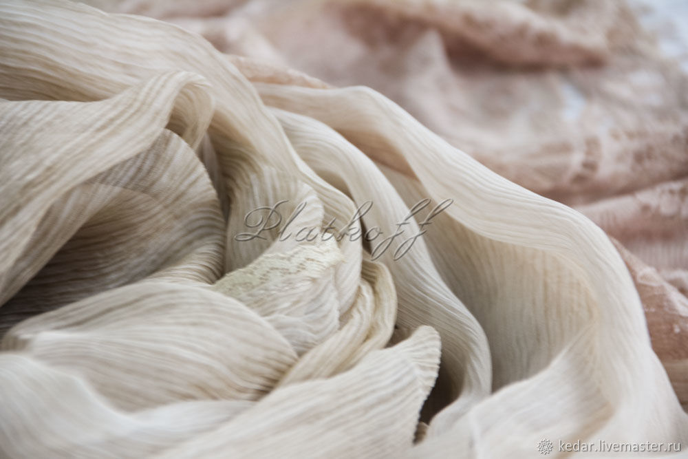Silk scarf 'luxury' from Valentino fabric color of gold sand, Wraps, Moscow,  Фото №1