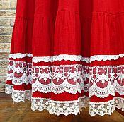 Одежда ручной работы. Ярмарка Мастеров - ручная работа Юбка летняя с кружевом. Handmade.