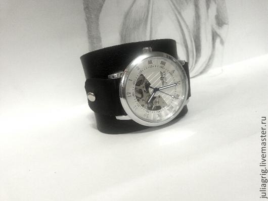 Часы ручной работы. Ярмарка Мастеров - ручная работа. Купить Часы наручные механические 4. Handmade. Серебряный, механические часы