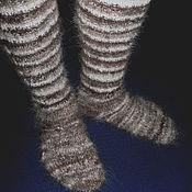 Аксессуары handmade. Livemaster - original item Men`s knitted knee socks. Handmade.