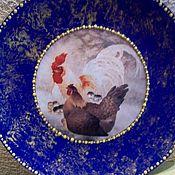 """Посуда ручной работы. Ярмарка Мастеров - ручная работа Тарелочка-""""Петушки-в-золоте"""". Handmade."""