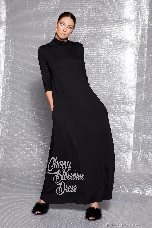 Купить длинное зимнее платье