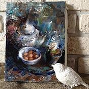 """Картины и панно ручной работы. Ярмарка Мастеров - ручная работа Картина """"Синий натюрморт"""".. Handmade."""