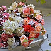Роза мелкая в букетах, 30см, 4 цвета