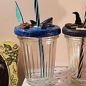 Кружки ручной работы. Ярмарка Мастеров - ручная работа Кружка, стакан с акулой. Handmade.