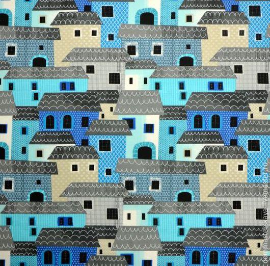 Шитье ручной работы. Ярмарка Мастеров - ручная работа. Купить 100% хлопок, Франция, город Монтероссо голубой. Handmade. Хлопок