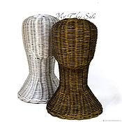 Манекены ручной работы. Ярмарка Мастеров - ручная работа Манекен Ротанговая Голова Бронзовая или Серебристая. Handmade.