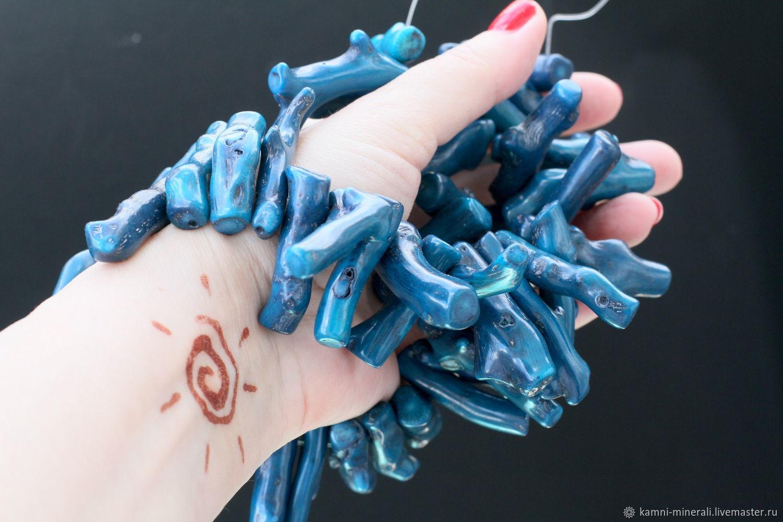 Коралл бусины веточки синий 40 мм, Бусины, Москва,  Фото №1