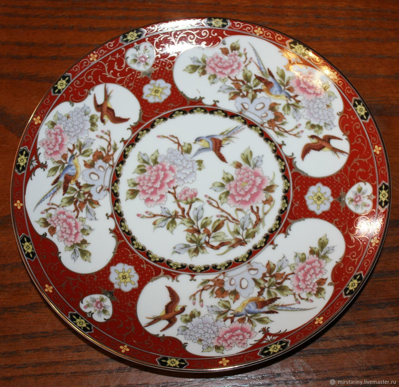 Beautiful, decorative plate 'Peonies', Imari, Japan, Vintage interior, Moscow,  Фото №1