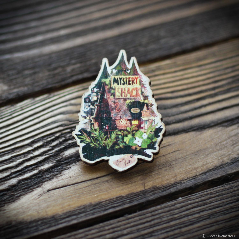 Wooden icon Gravity falls, Badge, Volzhsky,  Фото №1