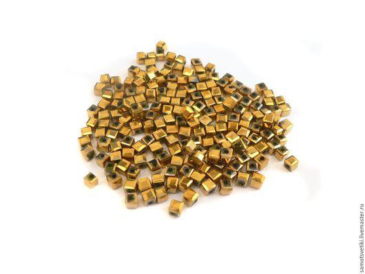 1) цвет золотой, размер 2 мм