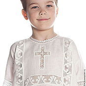 Работы для детей, handmade. Livemaster - original item Baptismal shirt Vologda lace 214 for 4-7 years. Handmade.