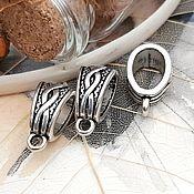 Материалы для творчества handmade. Livemaster - original item Bail for pendants, pendants 14x7.5x9 mm silver (Ref. 2444). Handmade.
