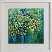 Картины и панно handmade. Livemaster - original item The picture in the FRAME of MIMOSA. Flowers. Handmade.