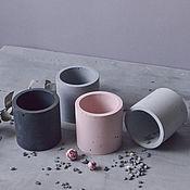 Для дома и интерьера handmade. Livemaster - original item Planters made of concrete Cylinder