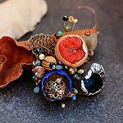 Украшения ручной работы. Ярмарка Мастеров - ручная работа Брошь из полимерной глины лесные бутоны 13. Handmade.