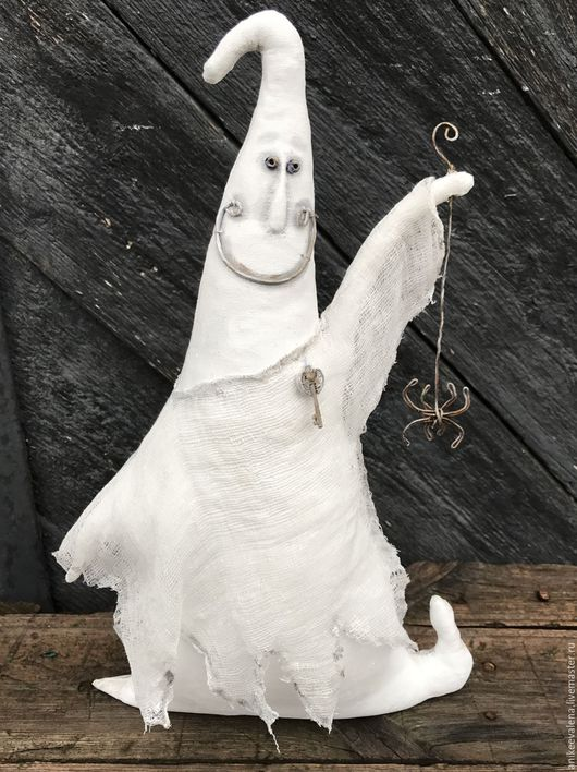 Сказочные персонажи ручной работы. Ярмарка Мастеров - ручная работа. Купить Каспер :). Handmade. Серый, текстильная игрушка, хеллоуин