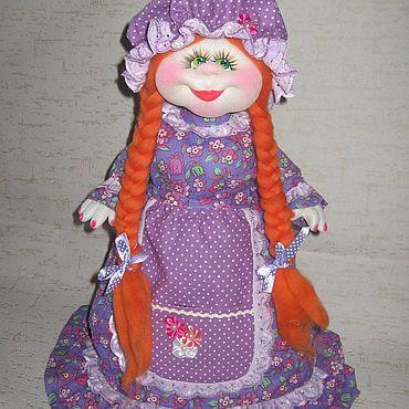 Посуда ручной работы. Ярмарка Мастеров - ручная работа Кукла грелка на чайник Дуняша.. Handmade.