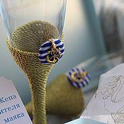 """Свадебный салон ручной работы. Ярмарка Мастеров - ручная работа Бокалы """"Жена смотрителя маяка"""". Handmade."""