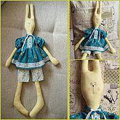 Куклы и игрушки ручной работы. Ярмарка Мастеров - ручная работа Заяц в платье. Handmade.