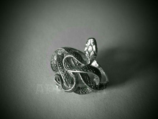 """Кольца ручной работы. Ярмарка Мастеров - ручная работа. Купить Кольцо """"Змея"""". Handmade. Серебро 925 пробы, змея"""
