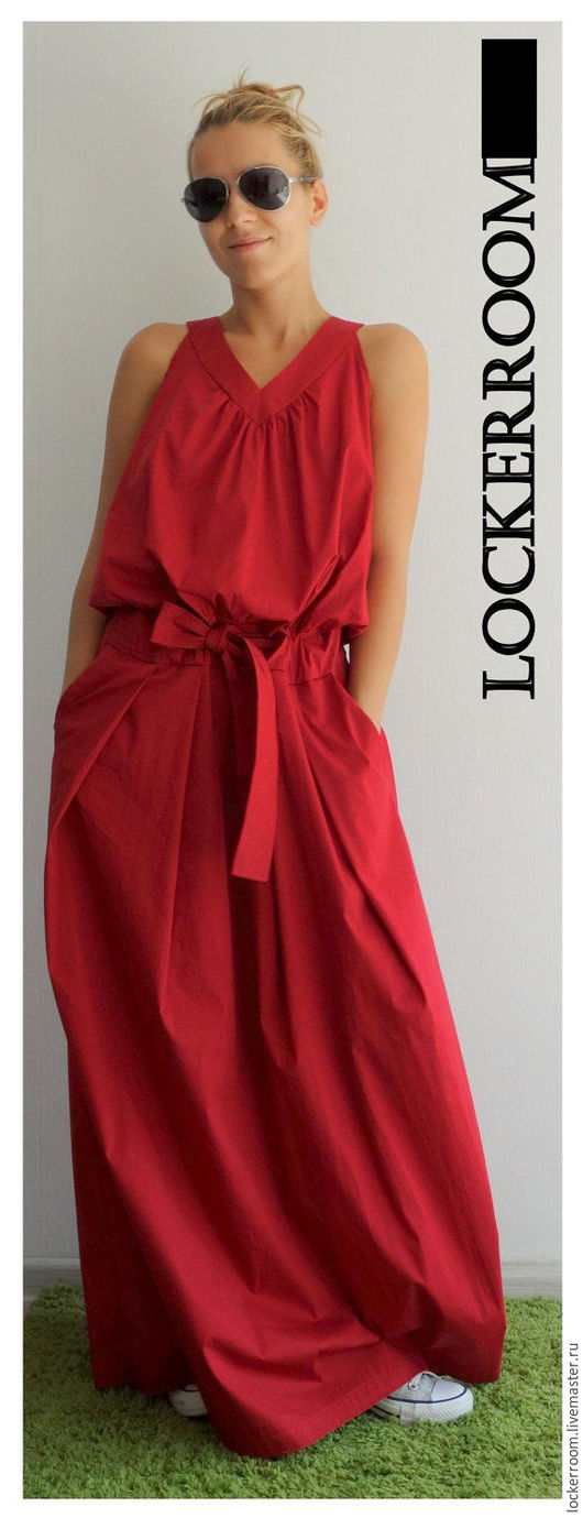 Платья ручной работы. Ярмарка Мастеров - ручная работа. Купить Платье сарафан Women Love (Red). Handmade. яркий сарафан