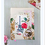 "Канцелярские товары ручной работы. Ярмарка Мастеров - ручная работа Блокнот (А6) ""Цветы Парижа"". Handmade."