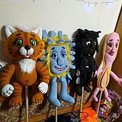 Куклы и игрушки handmade. Livemaster - original item Set of theatrical dolls on a simple gapit. For the play Moidodyr.. Handmade.