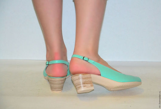 Обувь ручной работы. Ярмарка Мастеров - ручная работа. Купить Босоножки Никки Ликвидация. Handmade. Мятный, босоножки женские